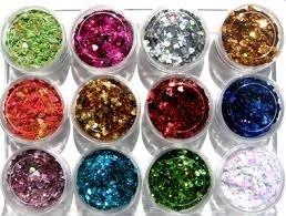 Glitter Shape nail art