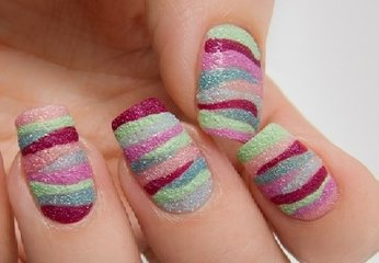 Sand Nail Art