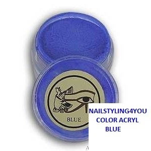 Ranails color acryl poeder Blue 6gr