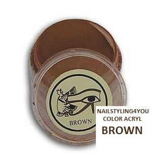 Ranails color acryl poeder Brown 6gr
