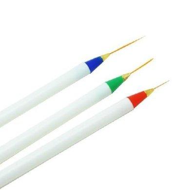 3 Delig set striper penselen
