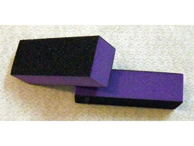 Buffing block violet/zwart 3 side