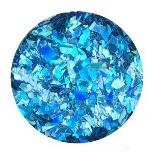 Glitter Flakes blue opalescent