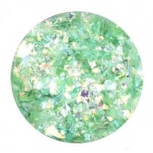 Glitter Flakes green opalescent