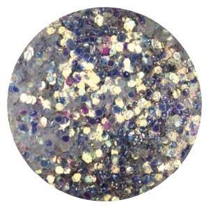 Confetti met glitter dust silver