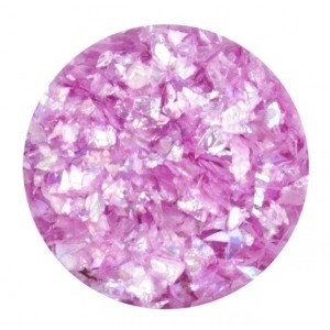 Glitter Flakes  Light Violet opalescent