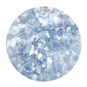Glitter Flakes Light Blue opalescent