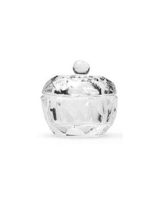 Dappendish glas met deksel rond