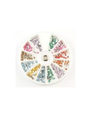 Glas sterretjes diversen kleuren in carousel (240)