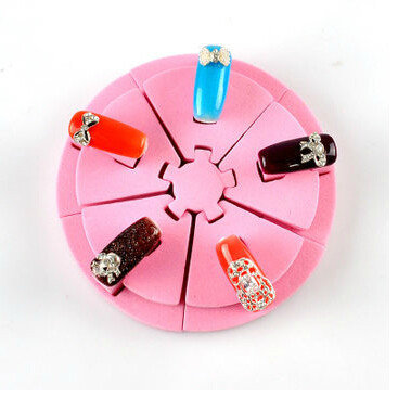 Nail art display roze